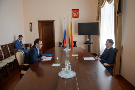 Состоялась рабочая встреча губернатора Алексея Гордеева с председателе...